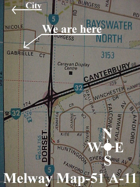 Map showing where we are